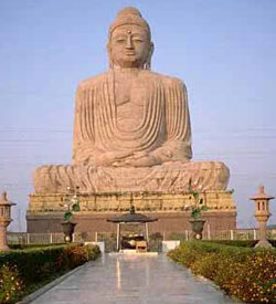 80ft (24 meters) Buddha statue in Bodh Gaya