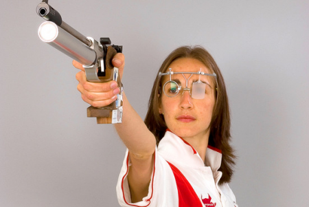 Georgina Geikie of Great Britain, Olympic pistol shooting athlete 2012